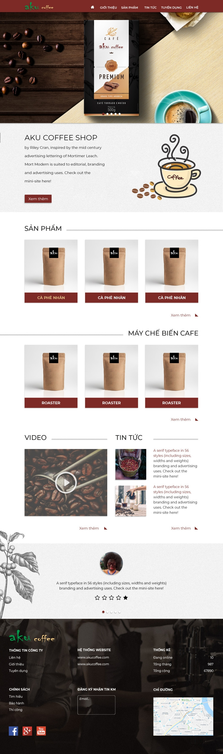 Thiết kế website kinh doanh coffee