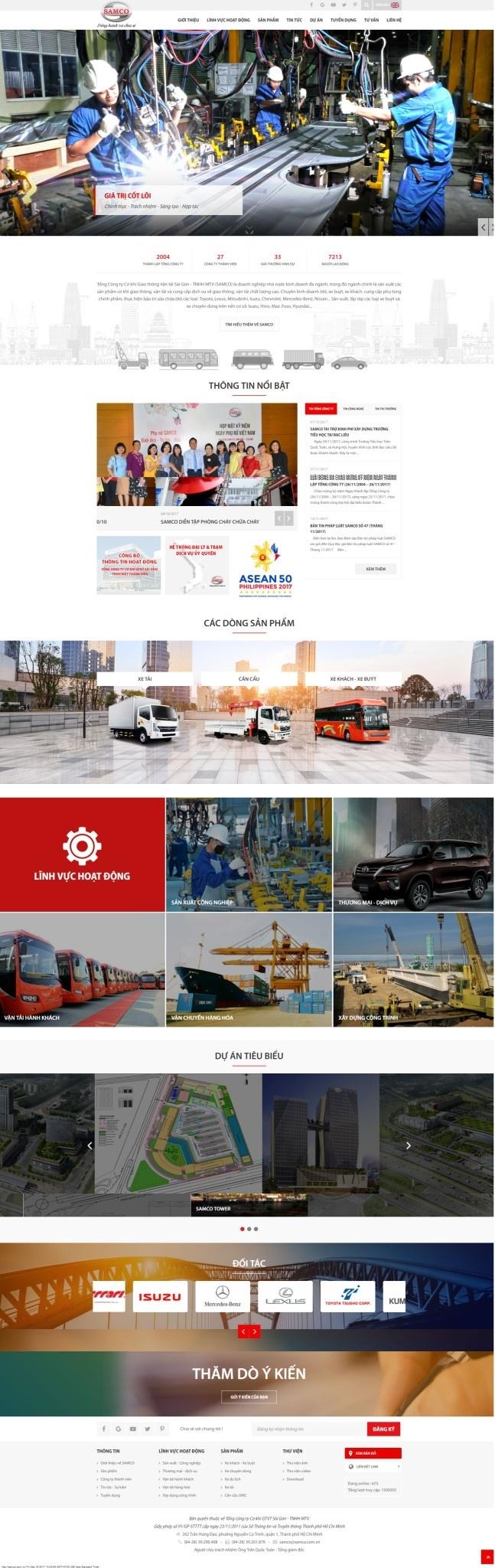 Thiết kế web doanh nghiệp công ty Samco