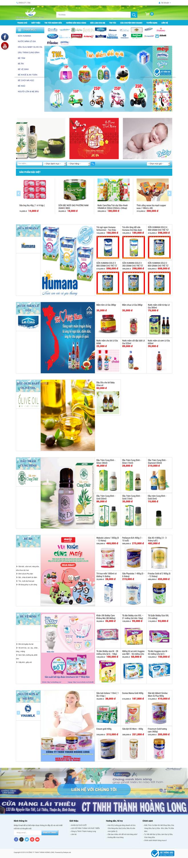 Thiết kế website bán sữa bột sữa các loại