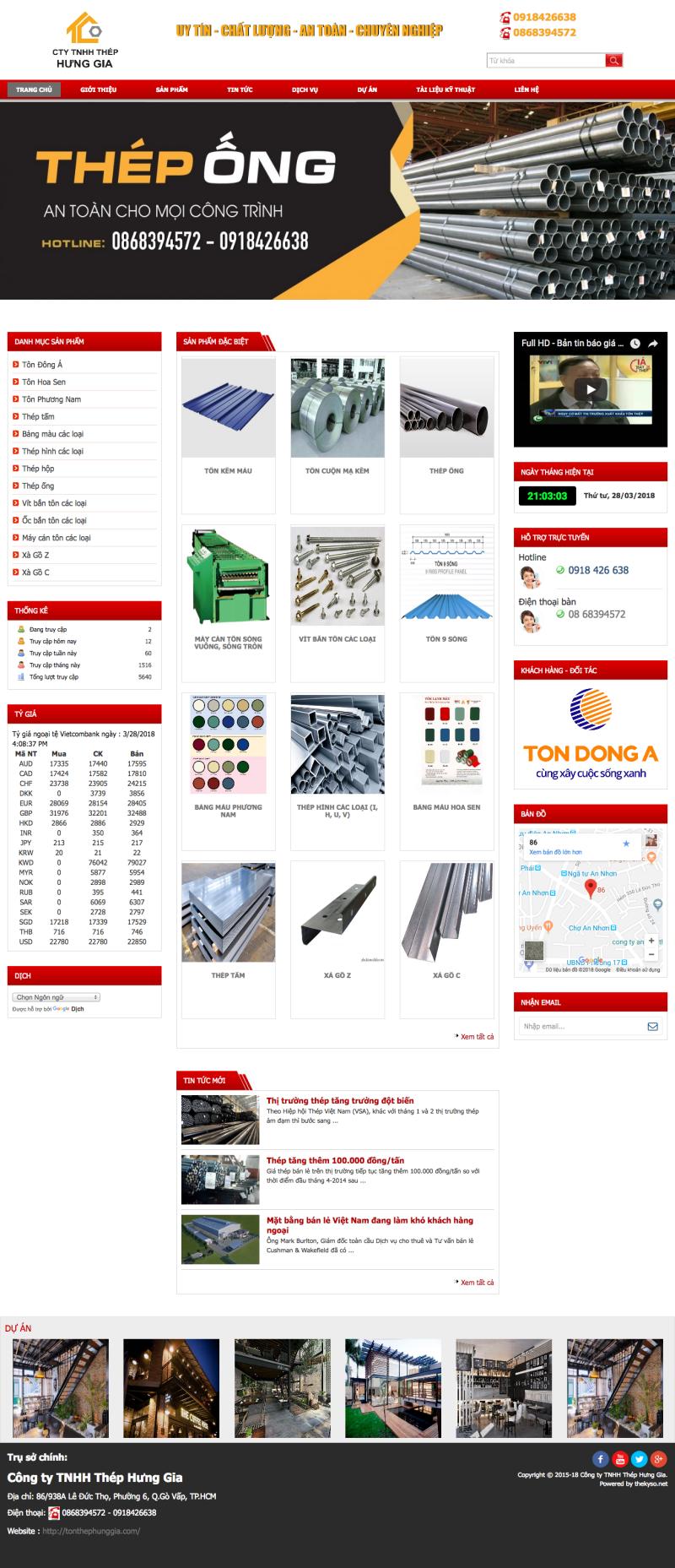 Thiết kế website tôn thép