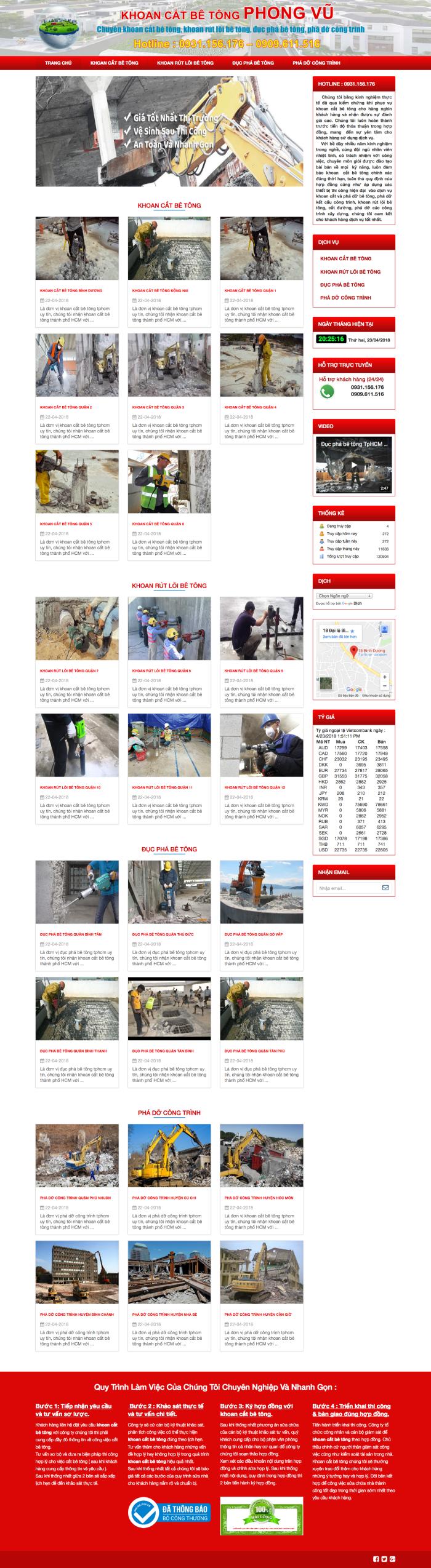 Thiết kế website khoan cắt bê tông